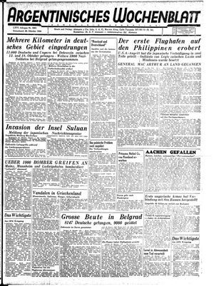 Argentinisches Wochenblatt vom 28.10.1944