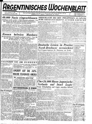 Argentinisches Wochenblatt vom 04.11.1944