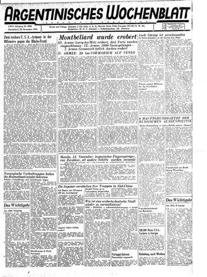 Argentinisches Wochenblatt vom 25.11.1944
