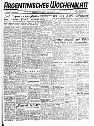 Argentinisches Wochenblatt on Dec 2, 1944