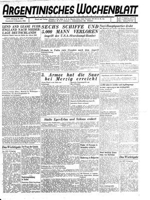 Argentinisches Wochenblatt vom 09.12.1944