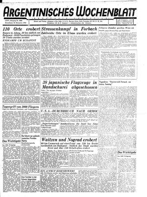 Argentinisches Wochenblatt vom 16.12.1944