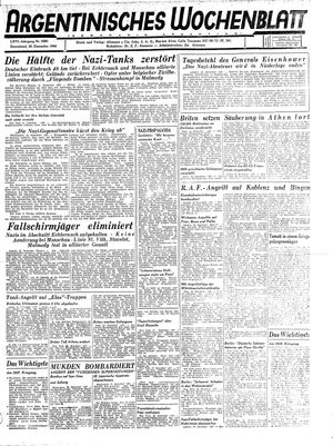 Argentinisches Wochenblatt vom 30.12.1944