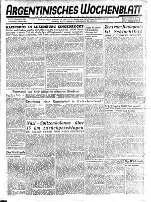 Argentinisches Wochenblatt vom 06.01.1945