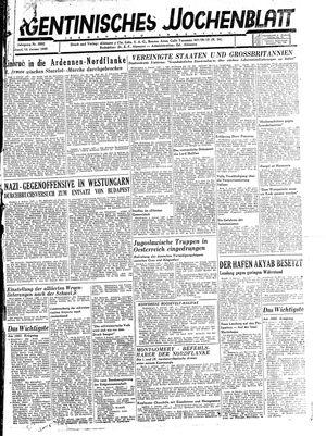 Argentinisches Wochenblatt vom 13.01.1945