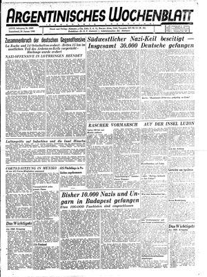 Argentinisches Wochenblatt vom 20.01.1945