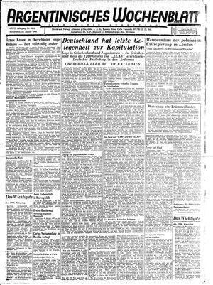 Argentinisches Wochenblatt vom 27.01.1945