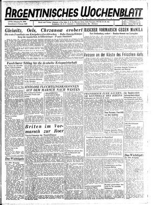 Argentinisches Wochenblatt vom 03.02.1945