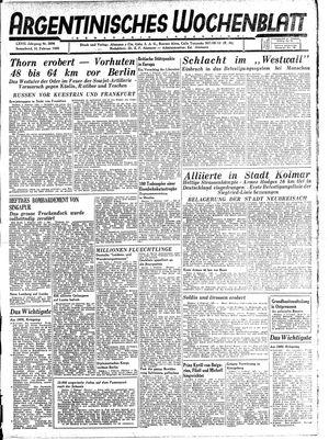 Argentinisches Wochenblatt vom 10.02.1945
