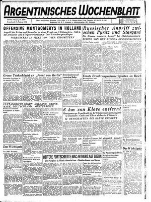 Argentinisches Wochenblatt vom 17.02.1945