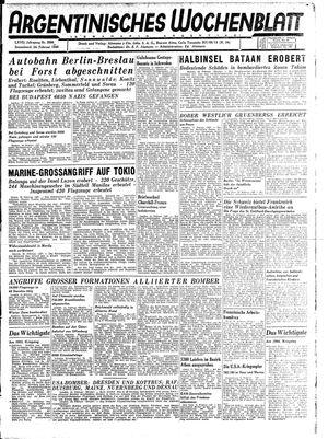 Argentinisches Wochenblatt vom 24.02.1945
