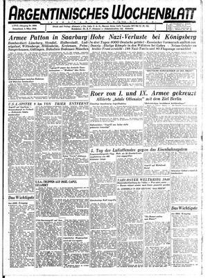 Argentinisches Wochenblatt vom 03.03.1945