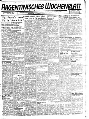 Argentinisches Wochenblatt vom 10.03.1945