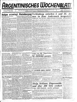 Argentinisches Wochenblatt vom 17.03.1945