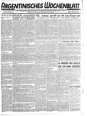 Argentinisches Wochenblatt on Mar 24, 1945