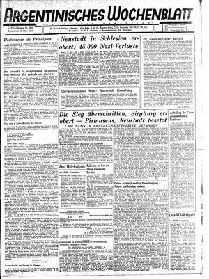 Argentinisches Wochenblatt vom 31.03.1945