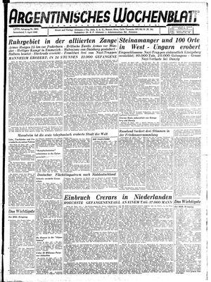Argentinisches Wochenblatt vom 07.04.1945