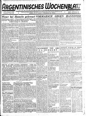 Argentinisches Wochenblatt vom 14.04.1945