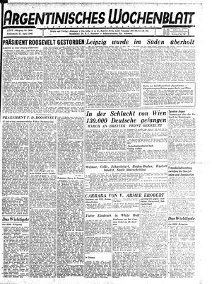 Argentinisches Wochenblatt vom 21.04.1945