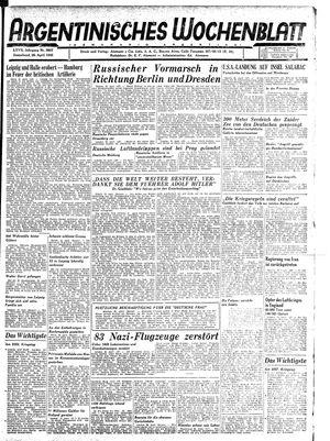 Argentinisches Wochenblatt vom 28.04.1945