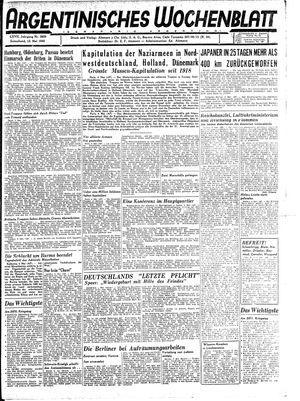 Argentinisches Wochenblatt vom 12.05.1945