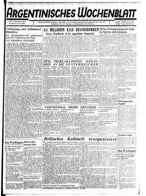 Argentinisches Wochenblatt vom 02.06.1945