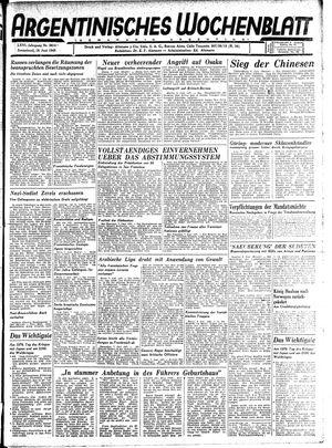 Argentinisches Wochenblatt vom 16.06.1945