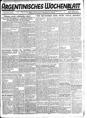 Argentinisches Wochenblatt vom 30.06.1945