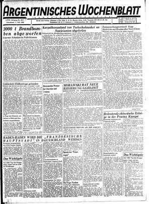 Argentinisches Wochenblatt vom 07.07.1945