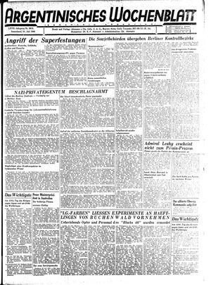 Argentinisches Wochenblatt vom 21.07.1945