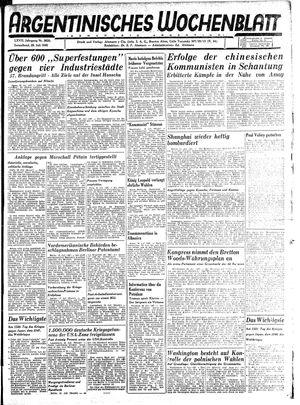 Argentinisches Wochenblatt vom 28.07.1945