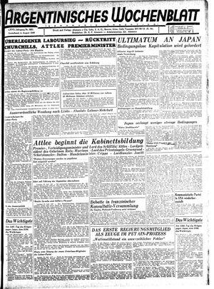 Argentinisches Wochenblatt vom 04.08.1945
