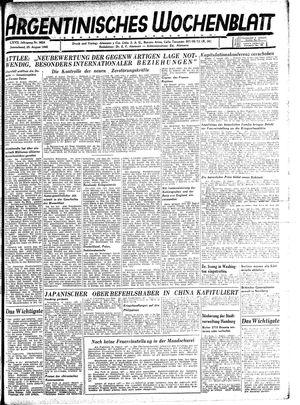 Argentinisches Wochenblatt vom 25.08.1945