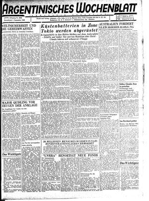 Argentinisches Wochenblatt vom 01.09.1945