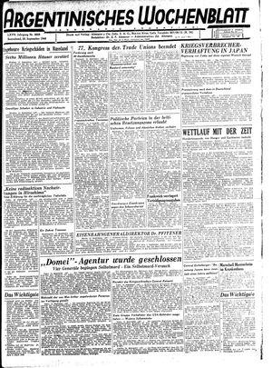 Argentinisches Wochenblatt vom 22.09.1945