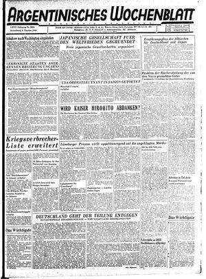 Argentinisches Wochenblatt vom 06.10.1945