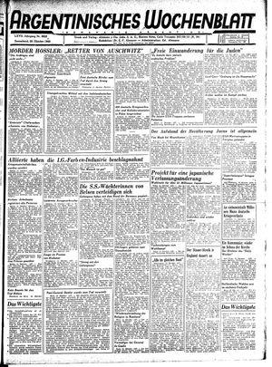 Argentinisches Wochenblatt vom 20.10.1945