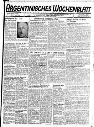 Argentinisches Wochenblatt vom 03.11.1945