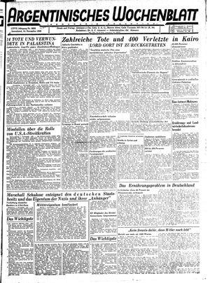 Argentinisches Wochenblatt vom 10.11.1945