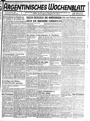Argentinisches Wochenblatt vom 17.11.1945