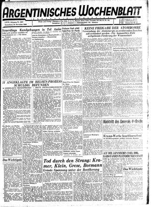 Argentinisches Wochenblatt vom 24.11.1945