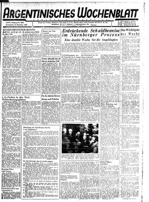 Argentinisches Wochenblatt vom 15.12.1945