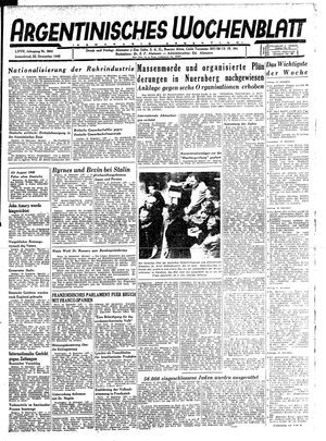 Argentinisches Wochenblatt vom 22.12.1945