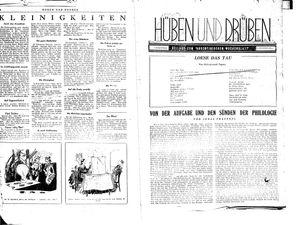 Hüben und drüben on Jan 8, 1944