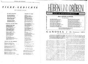 Hüben und drüben vom 29.01.1944