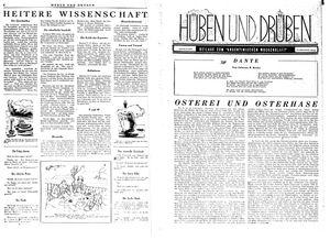 Hüben und drüben vom 08.04.1944