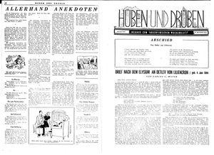 Hüben und drüben vom 03.06.1944