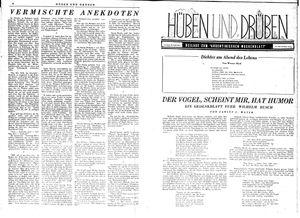 Hüben und drüben vom 30.09.1944
