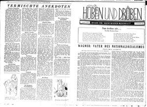 Hüben und drüben vom 07.10.1944