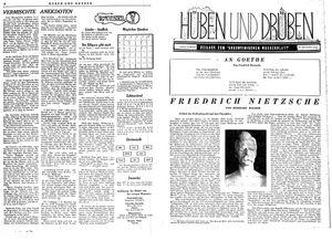 Hüben und drüben vom 14.10.1944